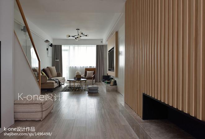 小型简约复式客厅设计图片