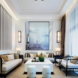 新中式别墅客厅背景画设计图