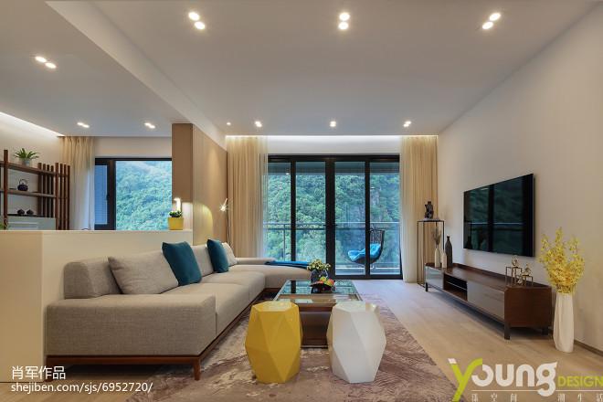 现代豪华客厅设计效果图