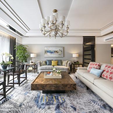 豪华混搭四居客厅设计图