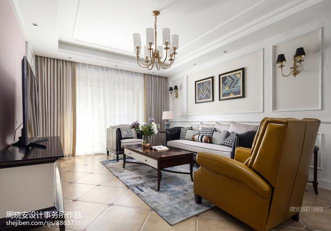 混搭三居客厅设计实景图