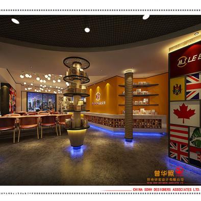 南宁奶茶汉堡店设计 咔哆米乐堡
