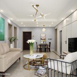 現代三居小客廳吊燈設計圖
