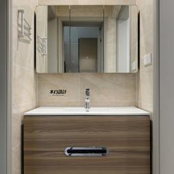现代三居小卫浴洗手盆设计图
