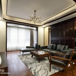 新中式客厅吊灯设计实景图