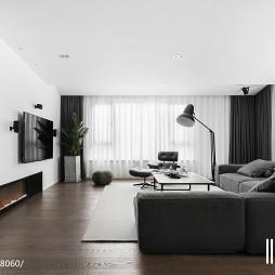 黑白现代客厅设计图片