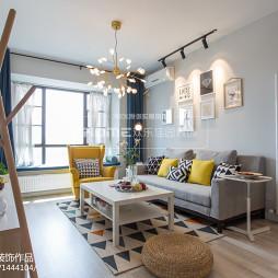 多彩北欧客厅沙发设计图