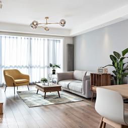 纯净北欧客厅沙发设计图