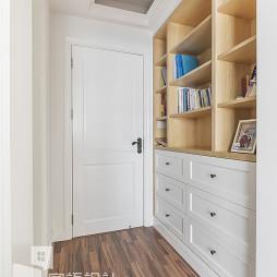 简单混搭卧室书柜设计图