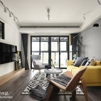 冷灰色北欧客厅设计图