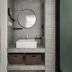冷灰色北欧卫浴洗手台设计图