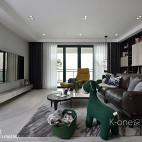 四居现代客厅实景图片