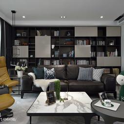 四居现代客厅书柜设计图