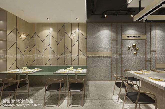 弥勒铁板π餐厅装修设计_310236