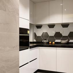 现代小户型厨房设计实景图