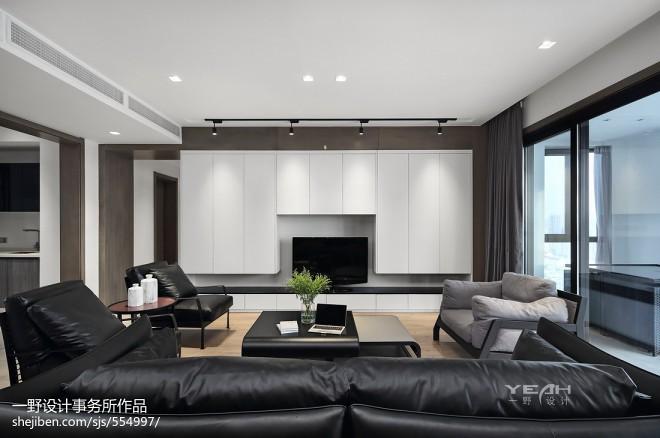 190m² 现代风格背景墙设计图