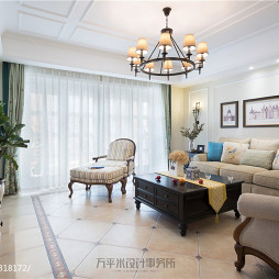 美式复式客厅吊灯设计图