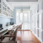 美式复式书房设计图片