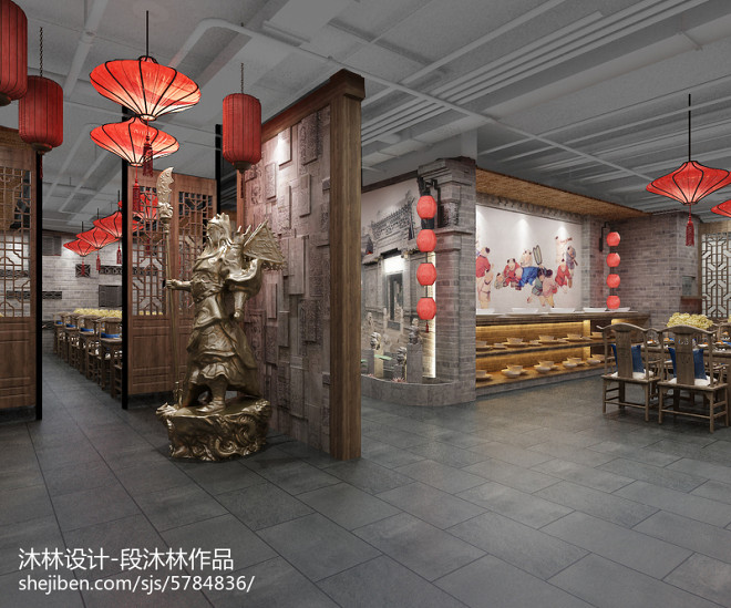 离石餐厅设计-沐林设计_310859