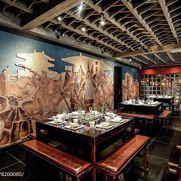 蜀霸王火锅餐厅壁画设计图