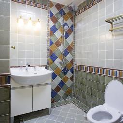 东南亚风四居卫浴设计图片