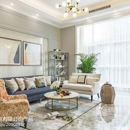 美式别墅客厅设计实景图