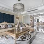 220平法式混搭客厅吊灯设计图