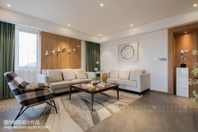 现代四居客厅实景图片
