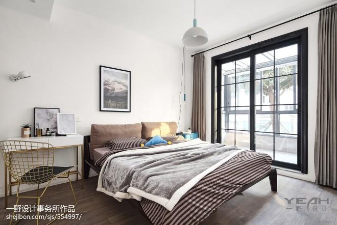 73m² 北欧风格卧室设计图