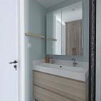 北欧复式卫浴洗手台设计图