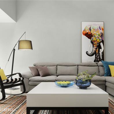 现代别墅客厅实景图片