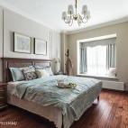 美式风三居卧室实景图