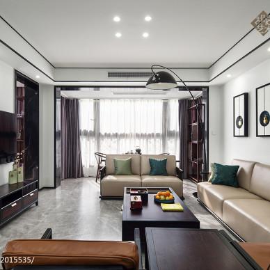 中式三居客厅实景图