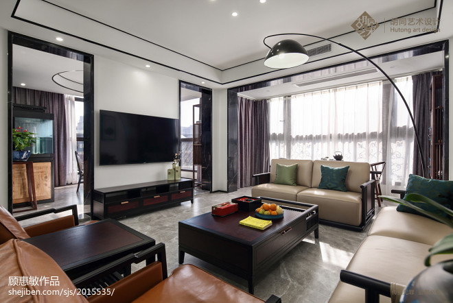 中式三居客厅实景图片
