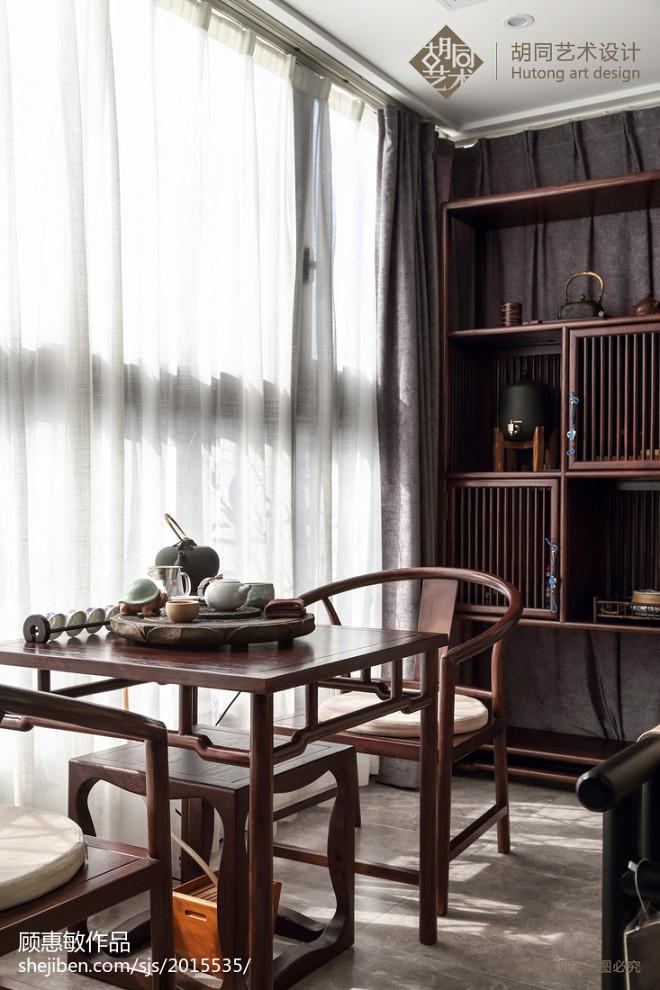 中式三居书房实景图