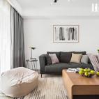 88平北欧客厅沙发设计图