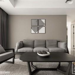 棕色现代客厅设计图