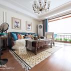 美式风格三居客厅实景图片