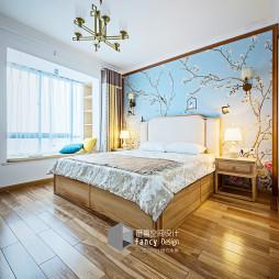禅意中式卧室设计图