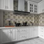经典美式三居厨房设计图