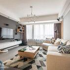 130平二居客厅设计实景图