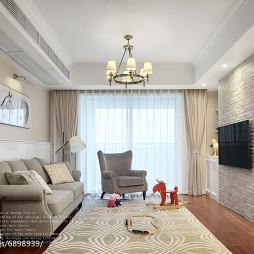 三居美式客厅设计