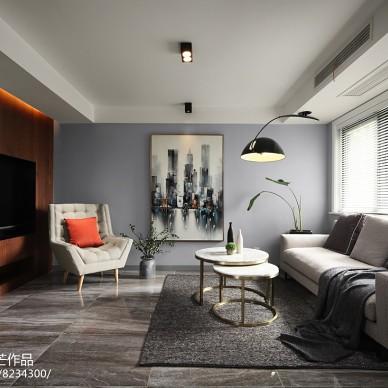 二居现代客厅设计实景图