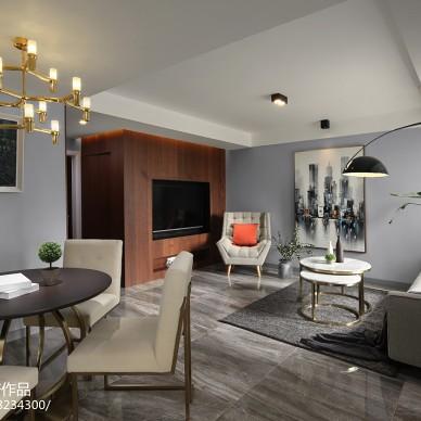 二居现代客厅设计实景图片