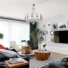 260m²复古北欧客厅设计图