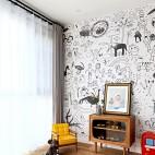 260m²复古北欧儿童房设计图