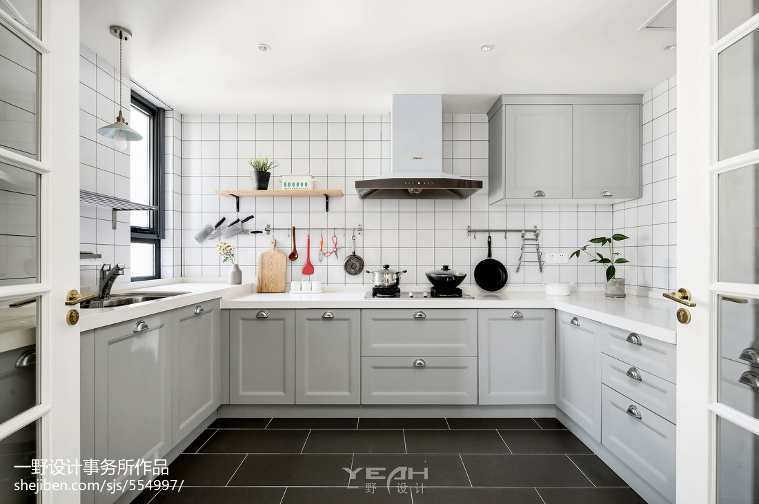 260m²复古北欧厨房设计图片