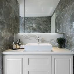 唯美新古典洗手台设计图