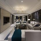 180㎡简欧客厅设计图