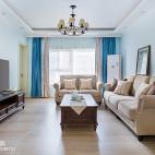 淡雅美式二居客厅设计图